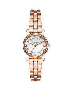 Michael Kors Women's Petite Norie Rose Gold-Tone 3-Hand Watch