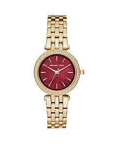 Michael Kors Women's Mini Darci Gold-Tone Three-Hand Watch
