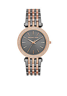 Michael Kors Women's Darci Two-Tone Rose Gold-Tone Three-Hand Watch