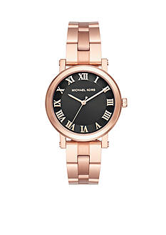 Michael Kors Women's Norie Rose Gold-Tone Three-Hand Watch