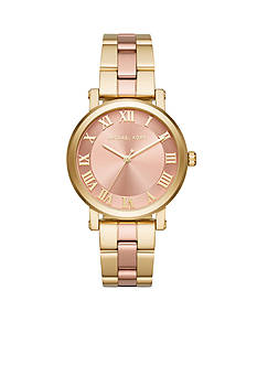 Michael Kors Women's Norie Two-Tone Rose and Gold Three-Hand Watch