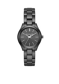 Michael Kors Women's Mini Slim Runway Black IP Three-Hand Watch
