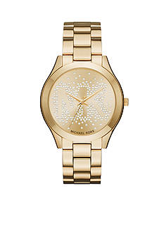 Michael Kors Women's Slim Runway Gold-Tone Three-Hand Watch