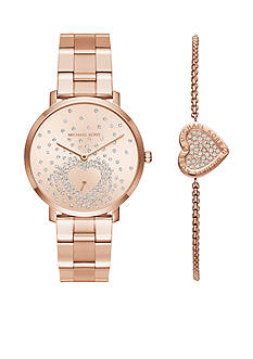 Michael Kors Women's Rose-Gold Watch and Bracelet Set