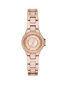 Michael Kors Women's Rose Gold-Tone and Blush Petite Camille Watch