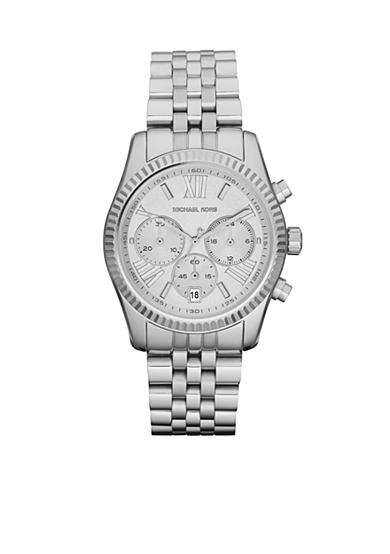 Michael Kors Mid-Size Silver-Tone Stainless Steel Lexington Chronograph Watch