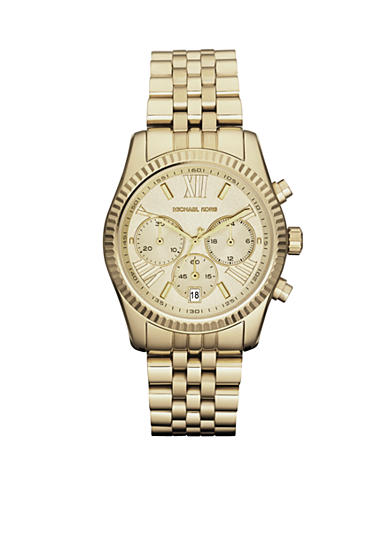 Michael Kors Mid-Size Gold-Tone Stainless Steel Lexington Chronograph Watch