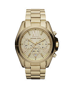 Michael Kors Mid-Size Gold-Tone Stainless Steel Bradshaw Chronograph Watch