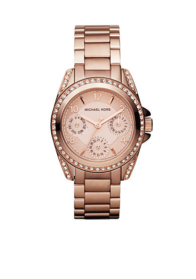Michael Kors Blair Mini Rose Gold Tone Glitz Watch