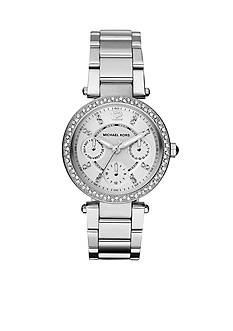 Michael Kors Parker Mini Silver-Tone Glitz Multifunction Watch