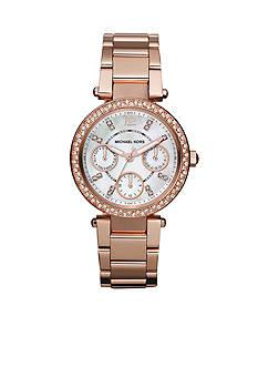 Michael Kors Parker Mini Rose Gold Tone Glitz Watch