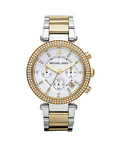 Michael Kors Parker Mini Two Tone Silver and Gold Glitz Watch