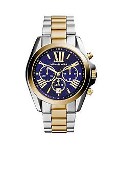Michael Kors Two-tone Navy Dial Bradshaw Watch