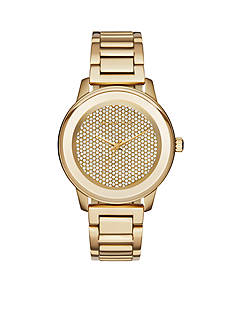Michael Kors Women's Gold-Tone Stainless Steel Kinley Pave Watch