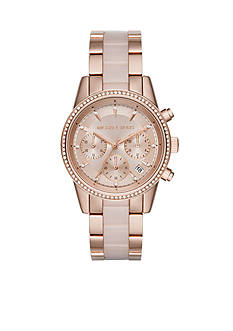 Michael Kors Women's Ritz Rose-Gold Tone Chronograph Watch