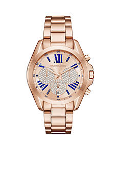 Michael Kors Women's Bradshaw Rose Gold-Tone Chronograph Watch