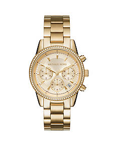 Michael Kors Women's Ritz Gold-Tone Chronograph Watch