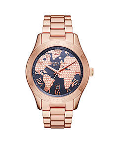 Michael Kors Women's Layton Rose Gold-Tone Three-Hand Watch