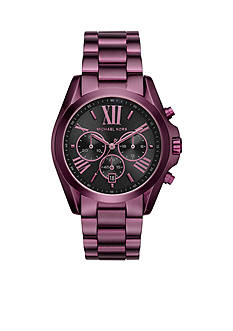 Michael Kors Women's Bradshaw Plum IP Chronograph Watch
