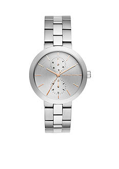 Michael Kors Silver-Tone Garner Multifunction Watch