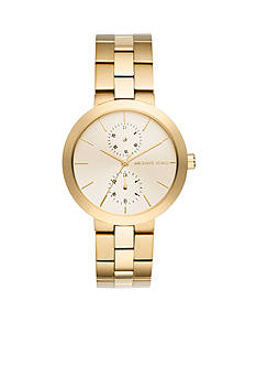 Michael Kors Women's Garner Gold-Tone Multifunction Watch