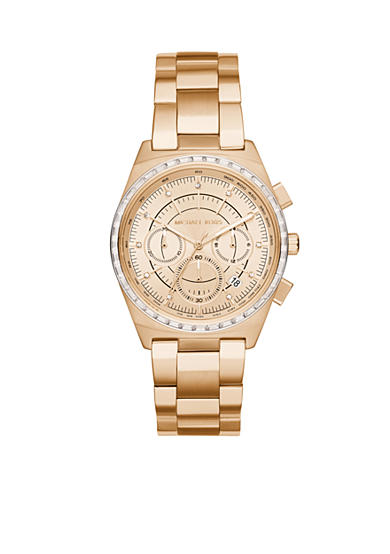Michael Kors Women's Vail Gold-Tone Chronograph Watch