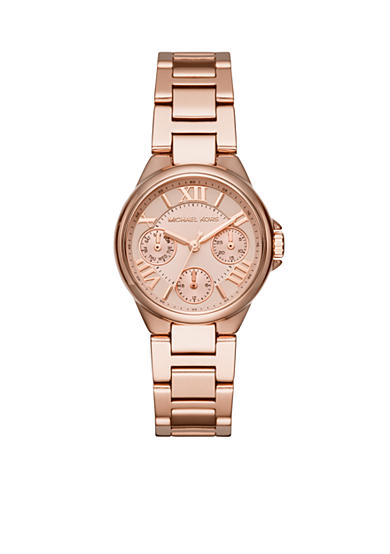 Michael Kors Rose Gold-Tone Mini Camille Multifunction Watch