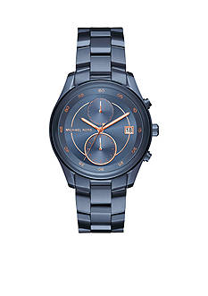 Michael Kors Women's Briar Navy IP Multifunction Watch