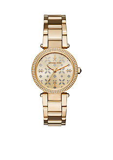 Michael Kors Women's Mini Parker Gold-Tone Three-Hand Watch