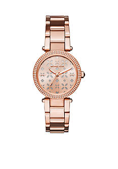 Michael Kors Women's Mini Parker Rose Gold-Tone Three-Hand Watch