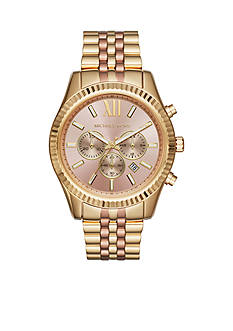 Michael Kors Women's Lexington Two-Tone Chronograph Watch