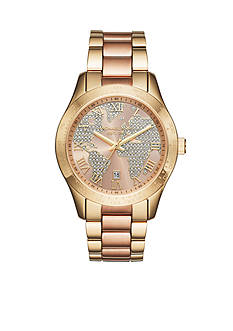 Michael Kors Women's Layton Two-Tone Three-Hand Watch