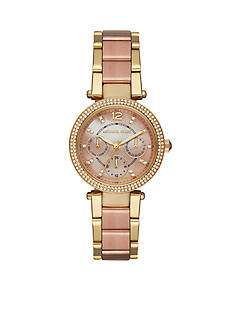 Michael Kors Women's Mini Parker Two-Tone Multifunction Watch