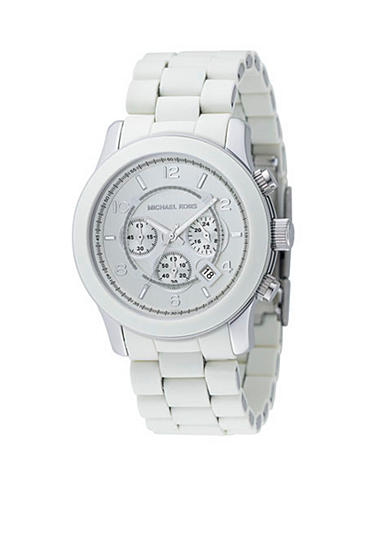 Michael Kors Mens Oversize White Polyutherane Watch