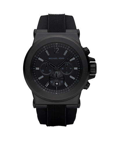 Michael Kors Black Silicone Strap Men's Watch