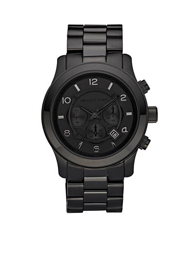 Michael Kors Blacked Out Runway Chronograph Mens Watch