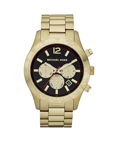 Michael Kors Men's Layton Gold Tone Chronograph Watch