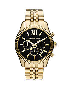 Michael Kors Men's Gold Tone Stainless Steel Lexington Chronograph Watch