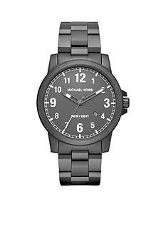 Michael Kors Paxton Black IP Three-Hand Watch