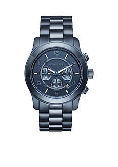 Michael Kors Women's Blue IP Chronograph Watch