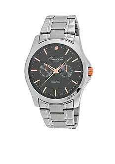 Kenneth Cole Men's Stainless Steel Diamond Accent Watch