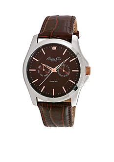 Kenneth Cole Men's Diamond Strap Watch