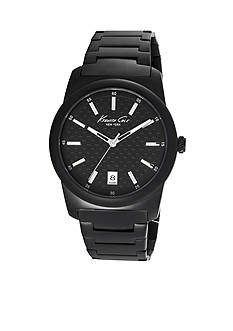 Kenneth Cole Men's Black Stainless Steel Watch