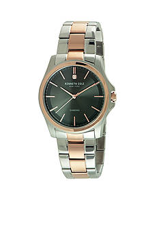 Kenneth Cole Men's Round Diamond Two-Tone Watch
