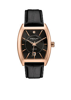 Kenneth Cole Men's Rose Gold-Tone and Black Watch