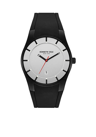 Kenneth Cole Men's Stainless Steel and Silicone Gunmetal Watch