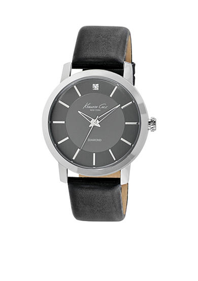 Kenneth Cole Rock Out Silver-Tone Brass Case Watch