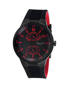 Kenneth Cole Limited Edition amfAR Charity Chronograph Black and Red Watch
