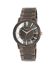 Kenneth Cole Men's Chocolate Stainless Steel Transparent Watch