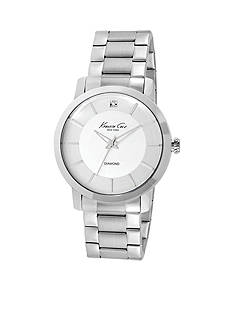 Kenneth Cole Men's Rock Out Stainless Steel Round Watch with Grey Dial